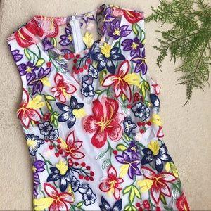 Alexia Admor Sheer Floral Dress